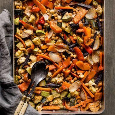 Verduras al horno con especias