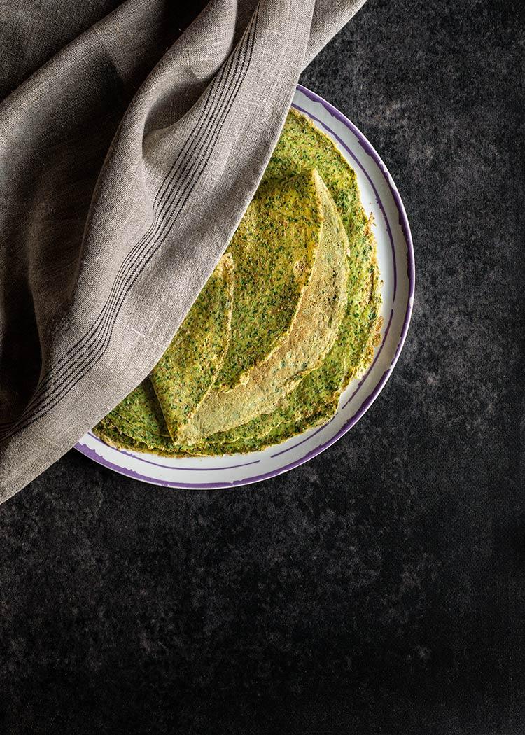 receta crepes espinacas