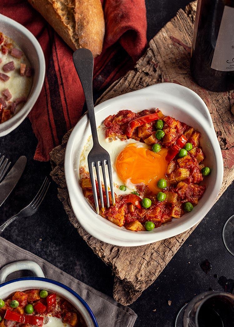 receta huevos flamenca