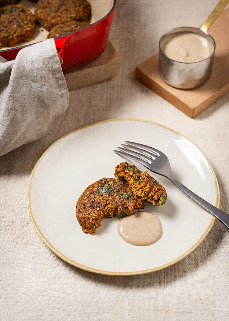 receta tortitas zanahoria lentejas