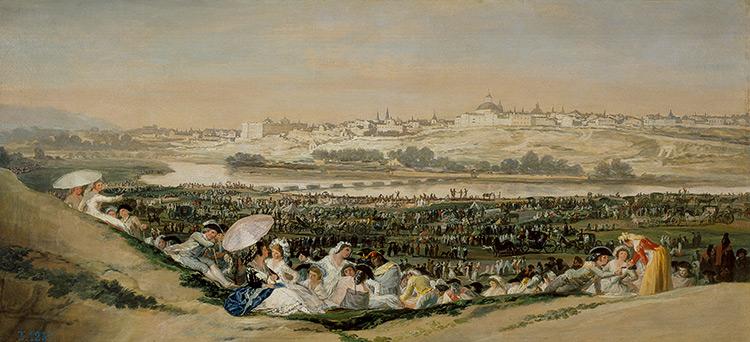 La pradera de San Isidro, Francisco de Goya. Museo del Prado