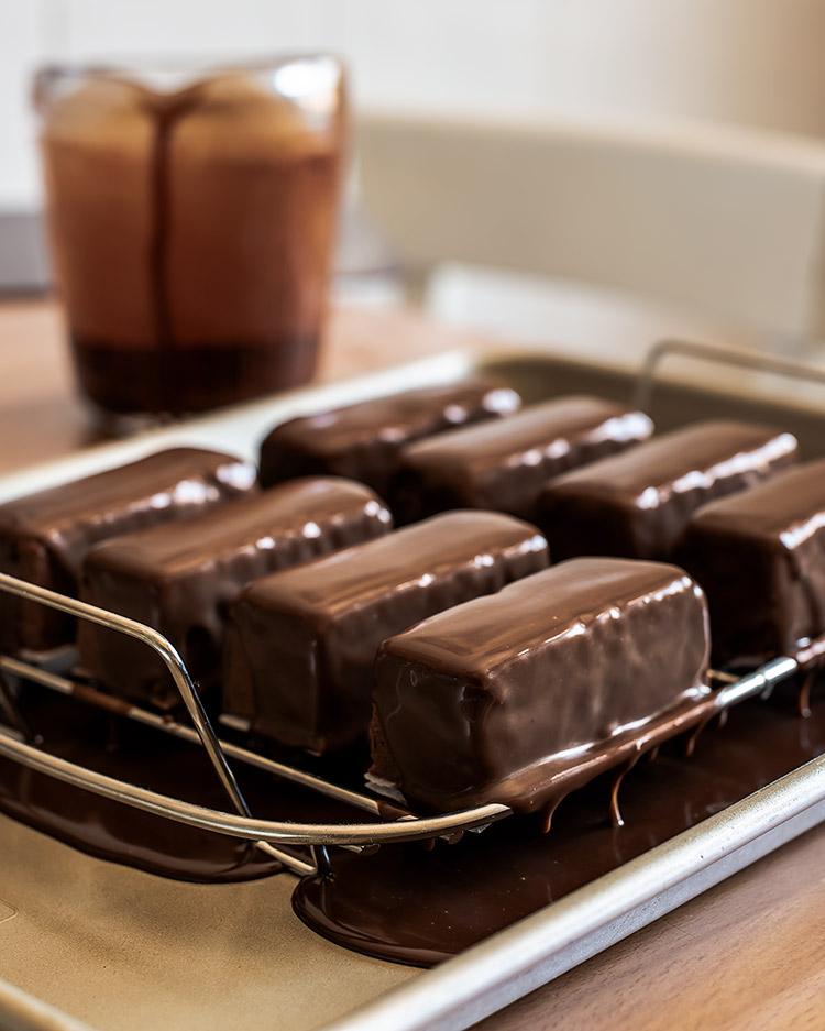 receta barritas mousse chocolate