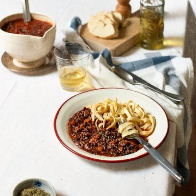 receta salsa bolognesa vegetariana