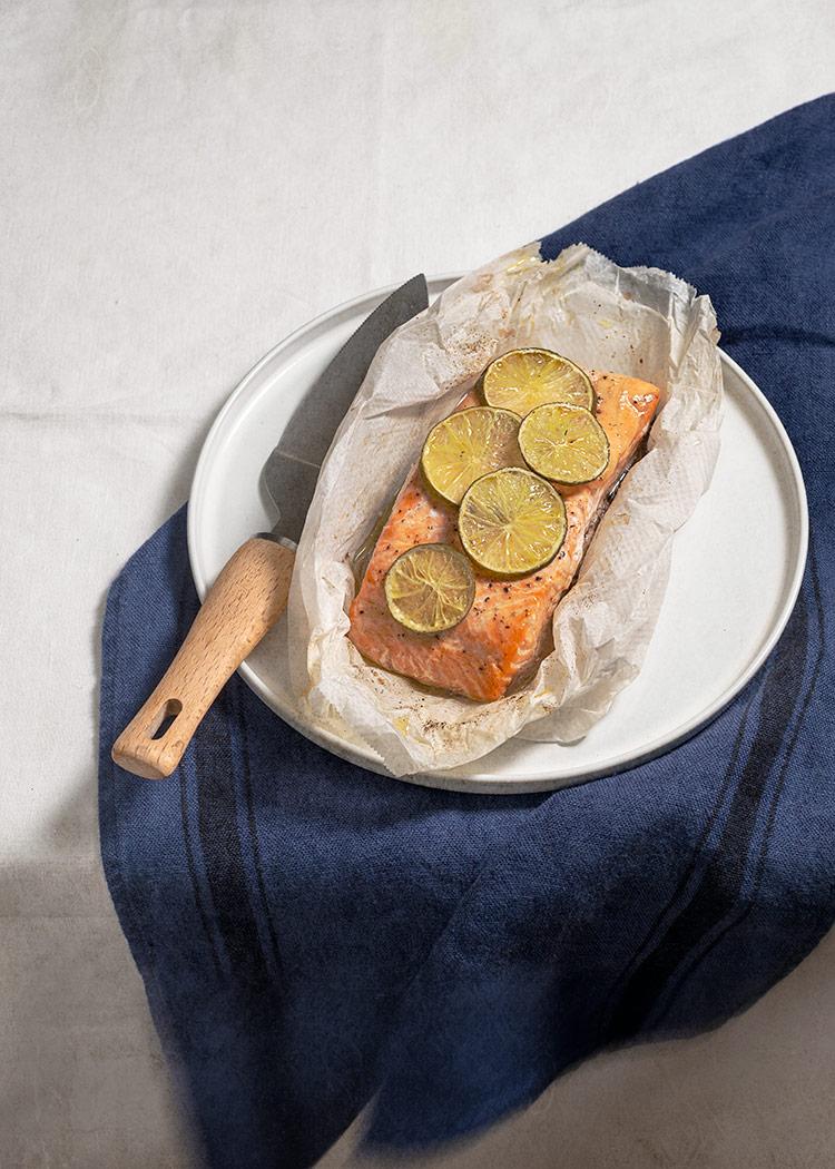 receta salmon papillote horno