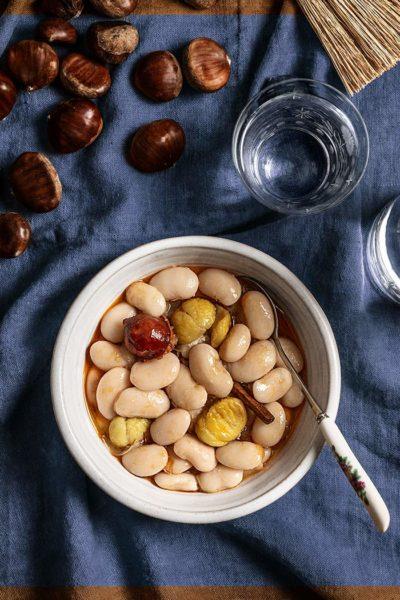 receta alubias estofadas castanas