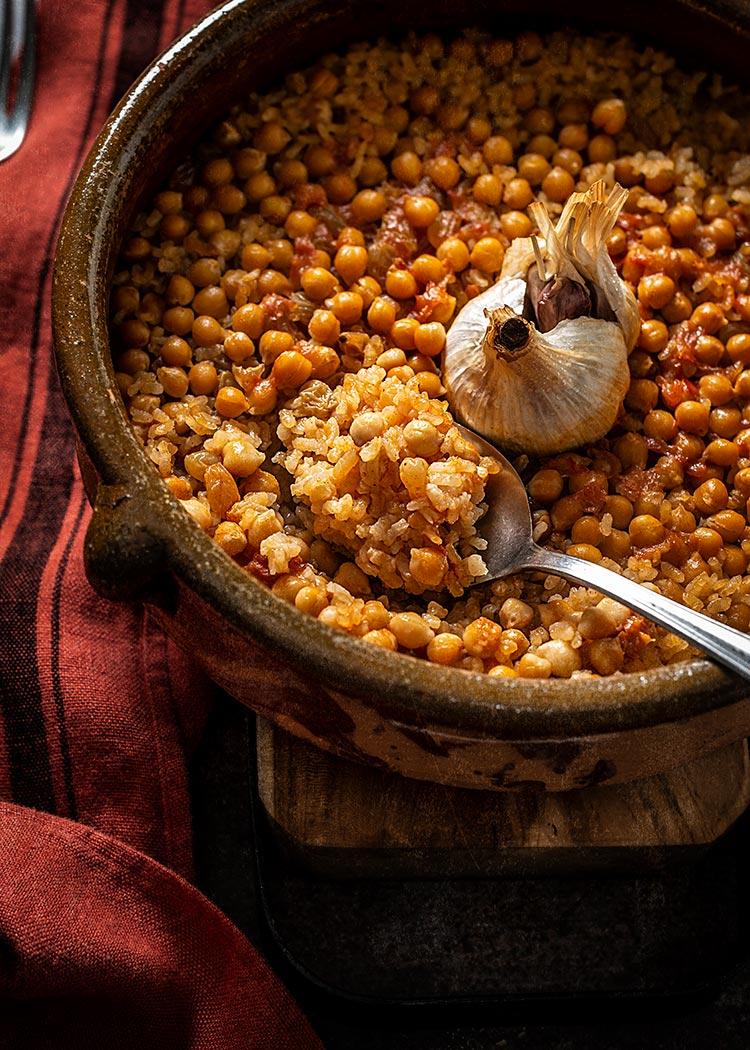 receta arroz garbanzos