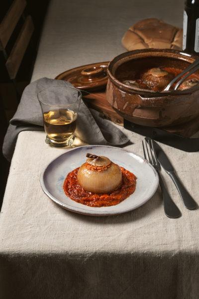 receta cebollas rellenas bonito