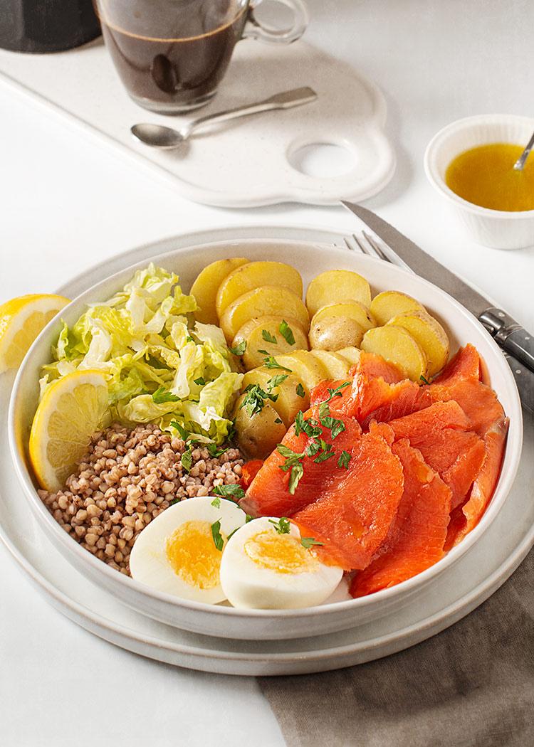 receta desayuno salmon ahumado