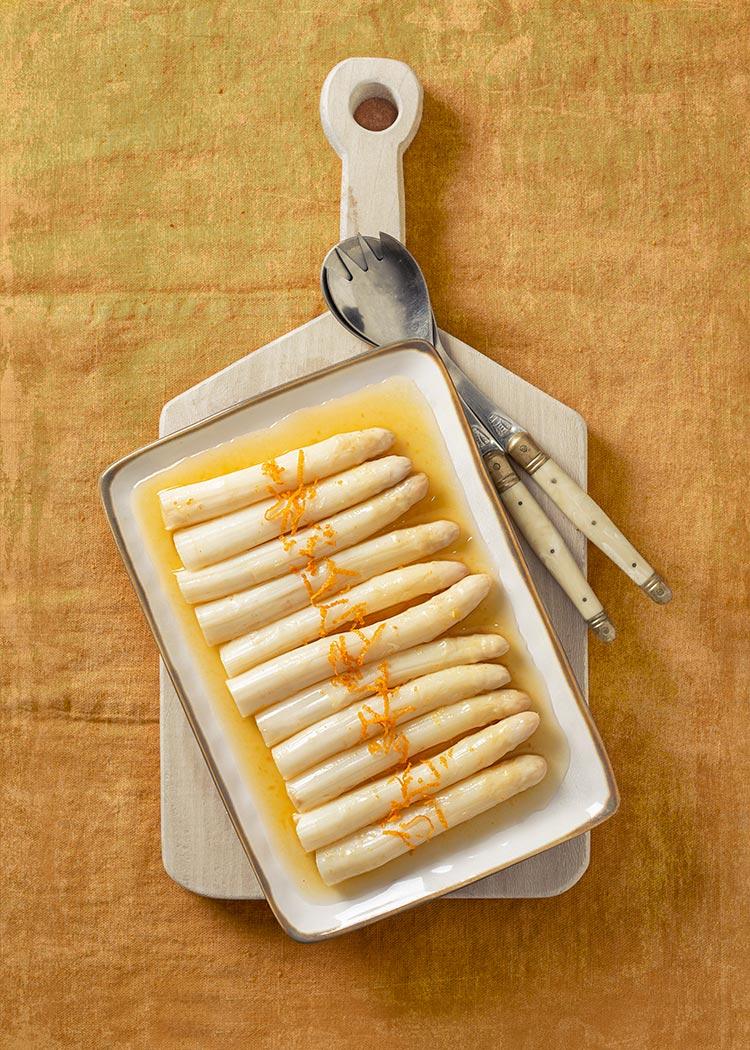 receta esparragos blancos escabeche naranja