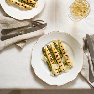 receta esparragos blancos verdes plancha