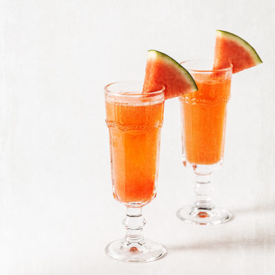 Cóctel mimosa de sandía