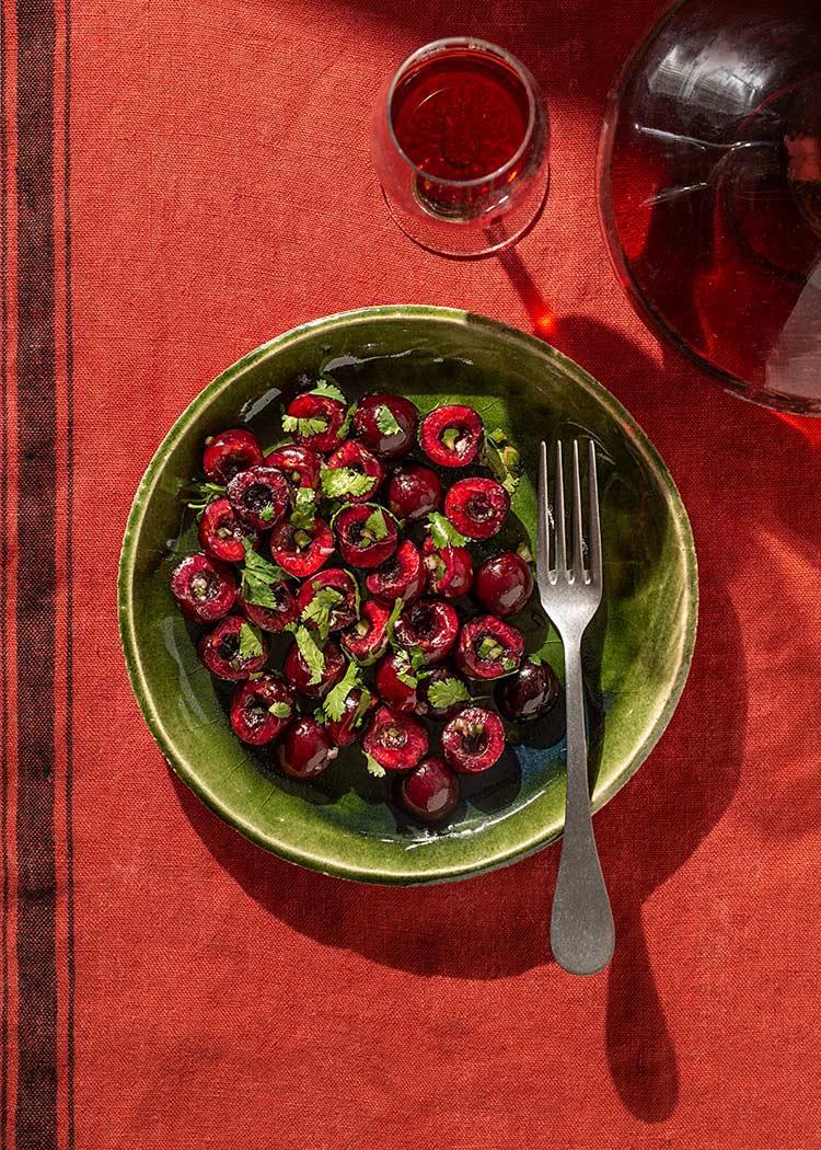 receta ensalada picante cerezas