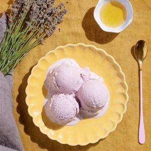 receta helado miel lavanda sin huevo